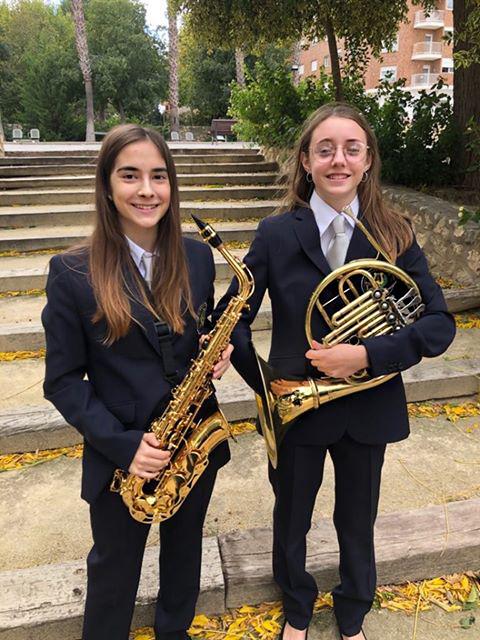 Andrea (Trompa) y Marta (Saxo alto)